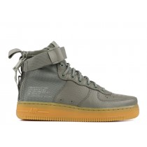SF Air Force 1 Mid Oscuro Stucco Mujer - AA3966-004