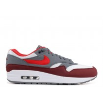 Nike air max 1 Blancas, university Rojas-cool-Gris ah8145-100