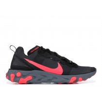 Nike React Element 55 Negras Solar Rojas - BQ6166-002