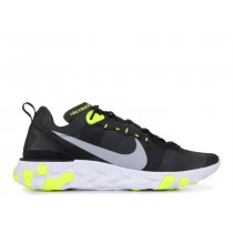 Nike React Element 55 Negras Volt BQ6166-001