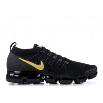Nike Mujer Air VaporMax Flyknit 2 Negras Oro | 942843-012
