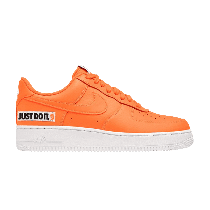 "Nike Air Force 1 '07 LV8 JDI LTHR ""just do it"" total Naranjas bq5360-800"