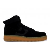 Nike - Hombre Air Force 1 High '07 LV8 Negras | Gum | Claro Marrones