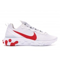 Nike React Element 55 Blancas Rojas - BQ6167-102