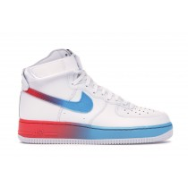 Air Force 1 High Gradient Blancas Azules Fury Ember Glow - CJ0525-100
