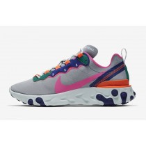 Nike React Element 55 Wolf Gris Multi-Color Mujer - BQ2728-006