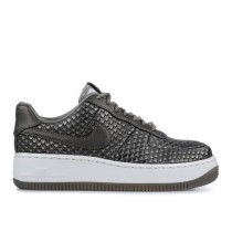 Mujer Air FORCE 1 UPSTEP PREMIUM metallic pewter, summit Blancas - 917590-003