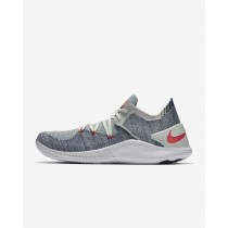 Nike Free TR Flyknit 3 Mujer Gym/HIIT/Cross Training Zapatillas Barely Gris/Azules Void/Blancas/Ember Glow 942887-005