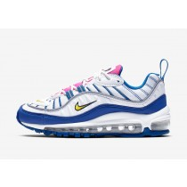 Nike Air Max 98 Blancas/Amarillo-Indigo Force BV4872-101