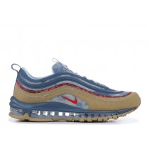 "Nike Air Max 97 ""Wild West"" Parachute Beige/University Rojas-Thunderstorm-Lite Armory Azules-Sail BV6056-200"