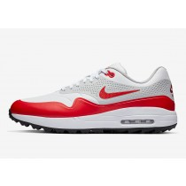 Nike Golf Zapatillas - Air Max 1 G - Blancas - University Rojas 2019