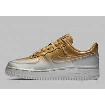 Nike Air Force 1 Low Metallic Platinum/Metallic Oro-Flat Oro 898889-012