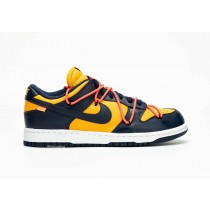 "Off-White x Nike Dunk Low ""Michigan"" CT0856-700"
