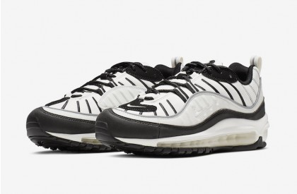 Nike Air Max 98 Sail Negras Reflect Plata AH6799-113