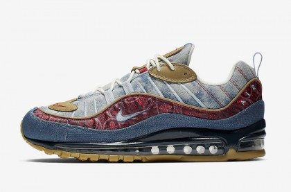 "Nike Air Max 98 ""Wild West"" Claro Armory/University Rojas BV6045-400"