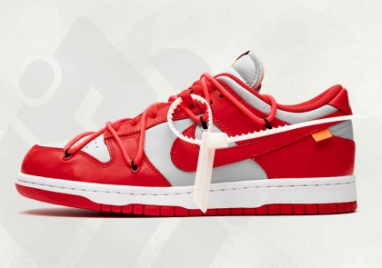 "Off-White x Nike Dunk Low ""University Rojas"" CT0856-600"