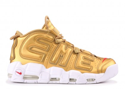 "Supreme x Air More Uptempo ""Metallic Oro""- Nike - 902290 700"
