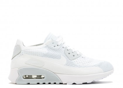 Nike Mujer Air Max 90 Flyknit Ultra 2.0 (Blancas) - 881109-104