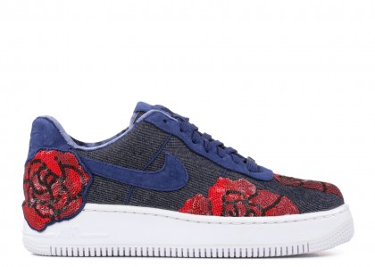Air Force 1 Upstep Low Denim Rose Azules Mujer - 898421-401