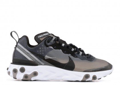 Nike React Element 87 Anthracite Negras - AQ1090-001
