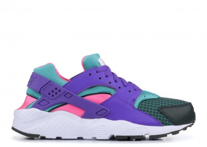 HUARACHE RUN NOW Mujer outdoor Verdes, hyper grape - bq7096-300