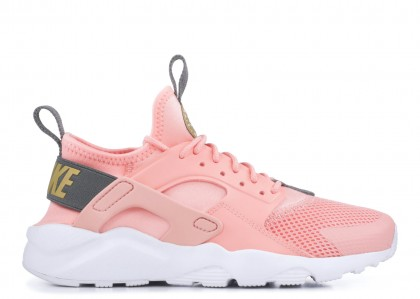 AIR HUARACHE RUN ULTRA bleached coral, metallic Oro, gunsmoke - 847568-600