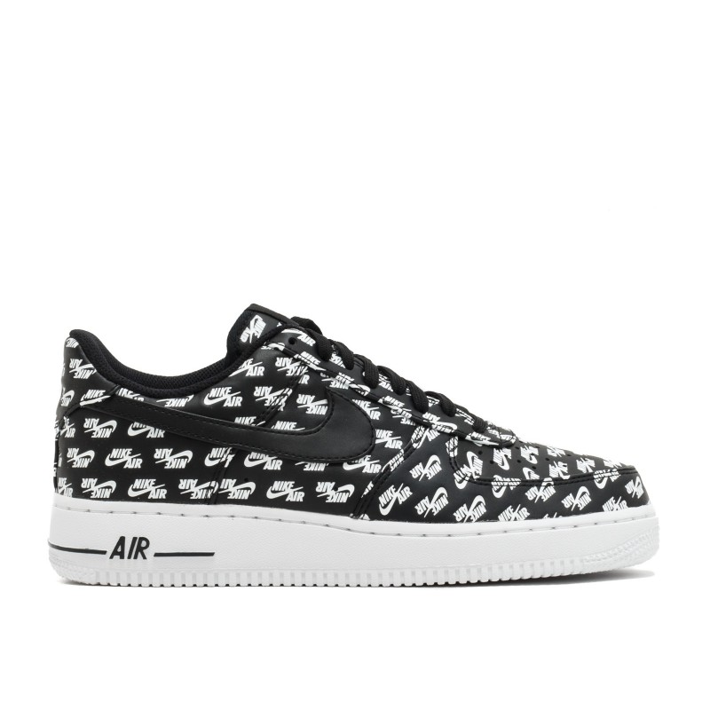 Air Force 1 Low all Over Logo Negras - AH8462-001