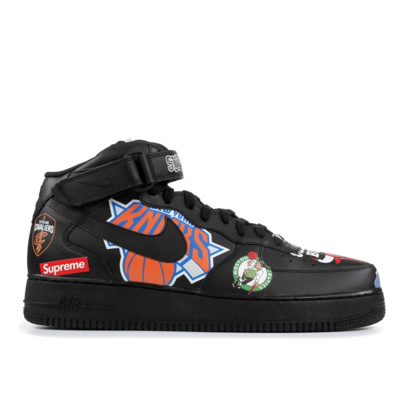 Air Force 1 Mid Supreme NBA Negras - AQ8017-001
