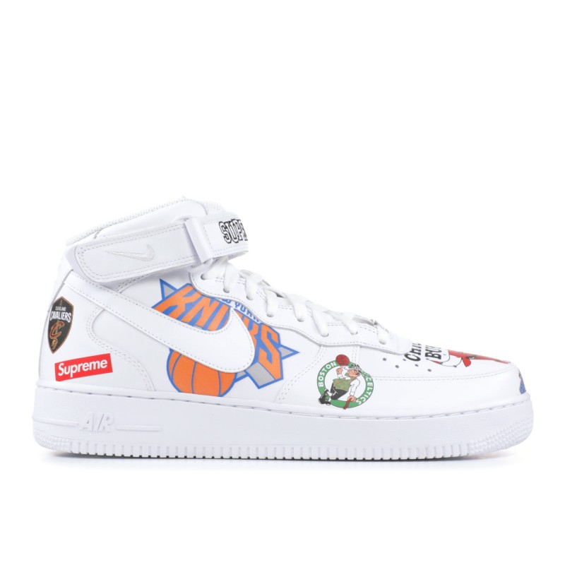 Air Force 1 Mid Supreme NBA Blancas - AQ8017-100