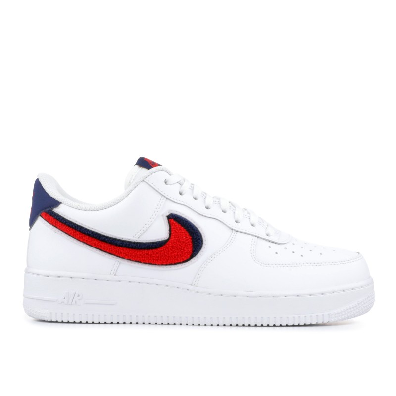 "Air Force 1 07 LV8 ""Chenille Swoosh""- Nike - 823511 106"