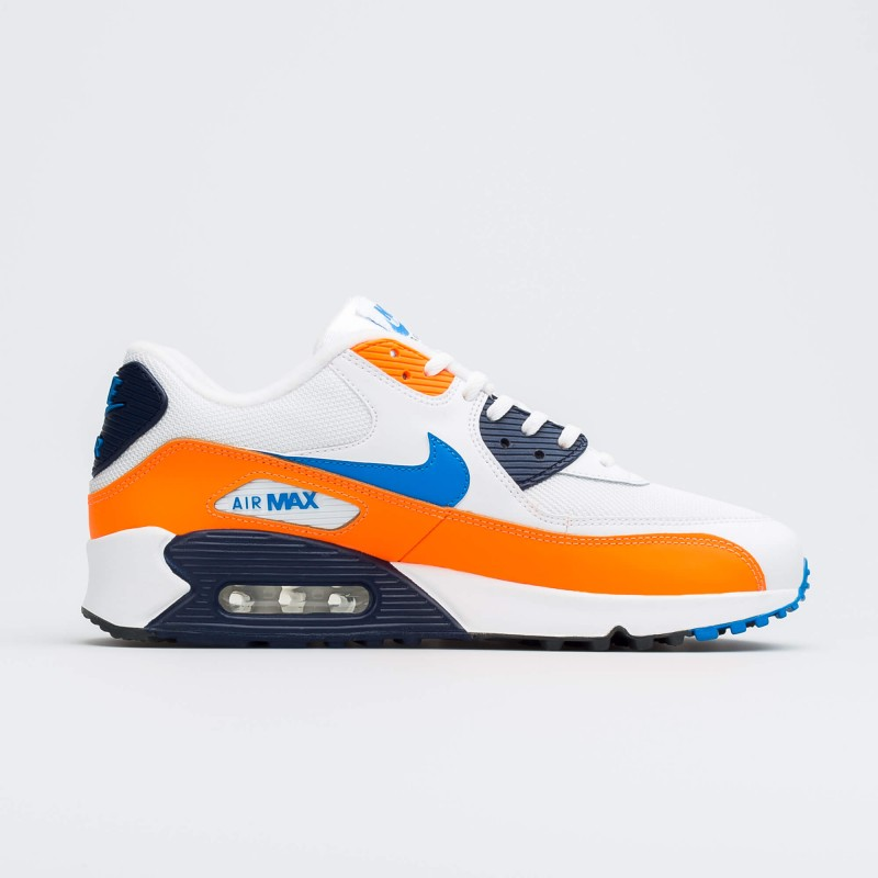 Air Max 90 Blancas Photo Azules Total Naranjas - AJ1285-104