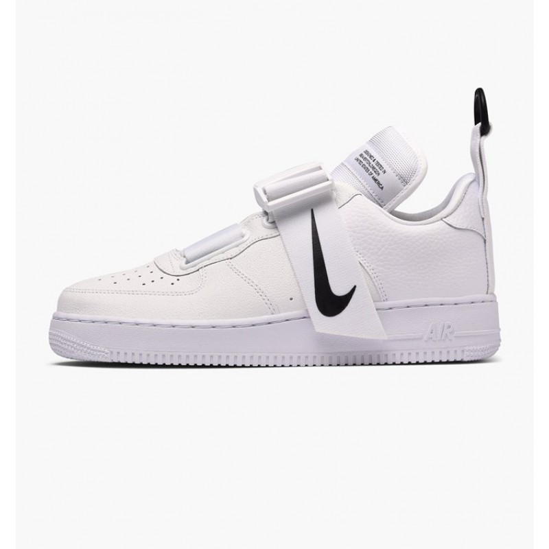 Air Force 1 Utility Blancas Negras Blancas Sole - AO1531-101