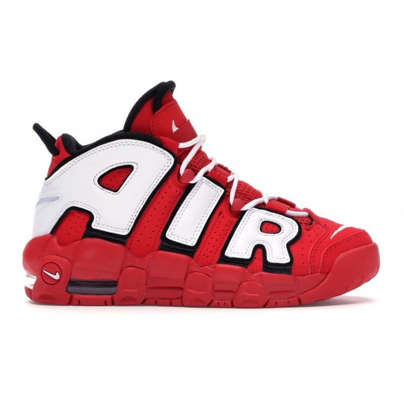 Air More Uptempo University Rojas Negras Blancas Mujer - CD9402-600