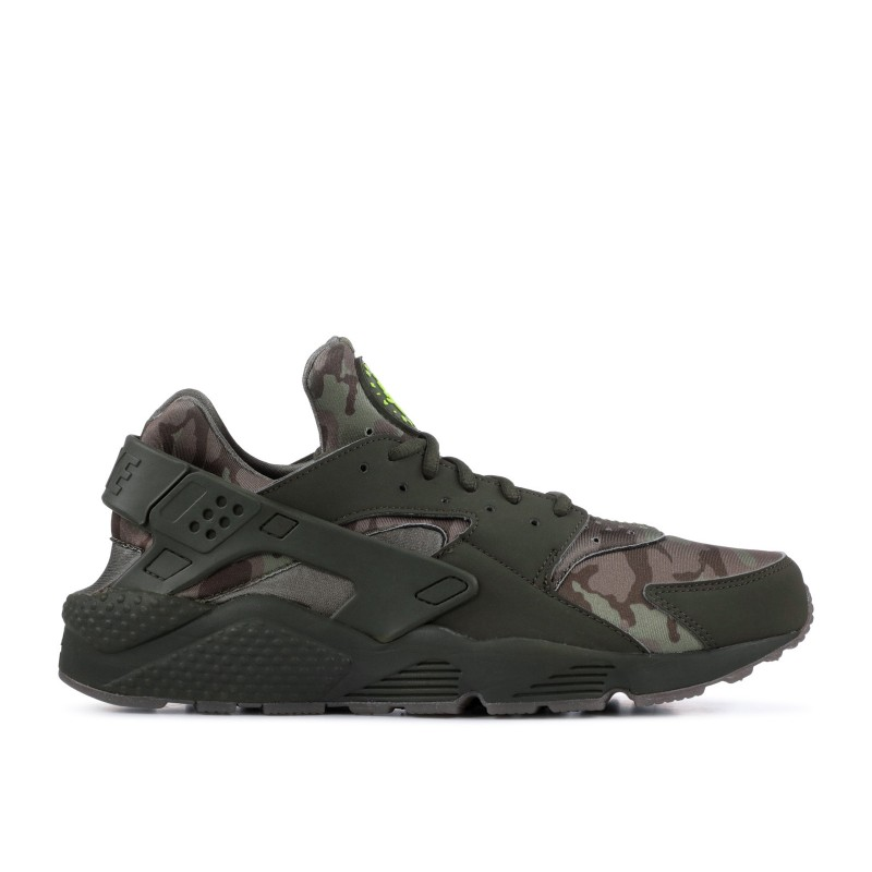 AIR HUARACHE RUN cargo khaki, volt, sequoia, gum dark Marrones - at6156-300