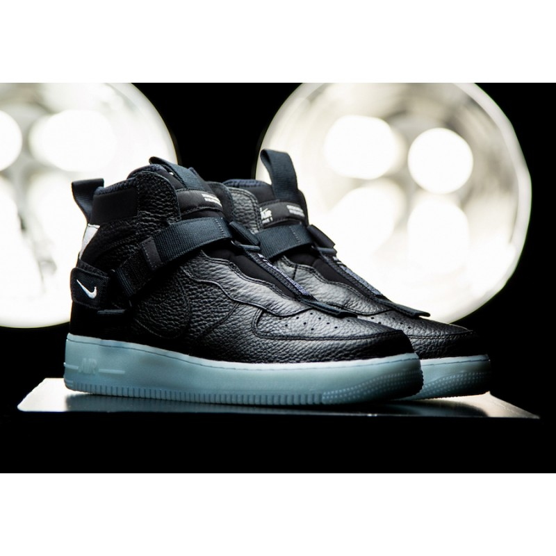 Nike Air Force 1 Mid Utility Negras Azules AQ9758-001