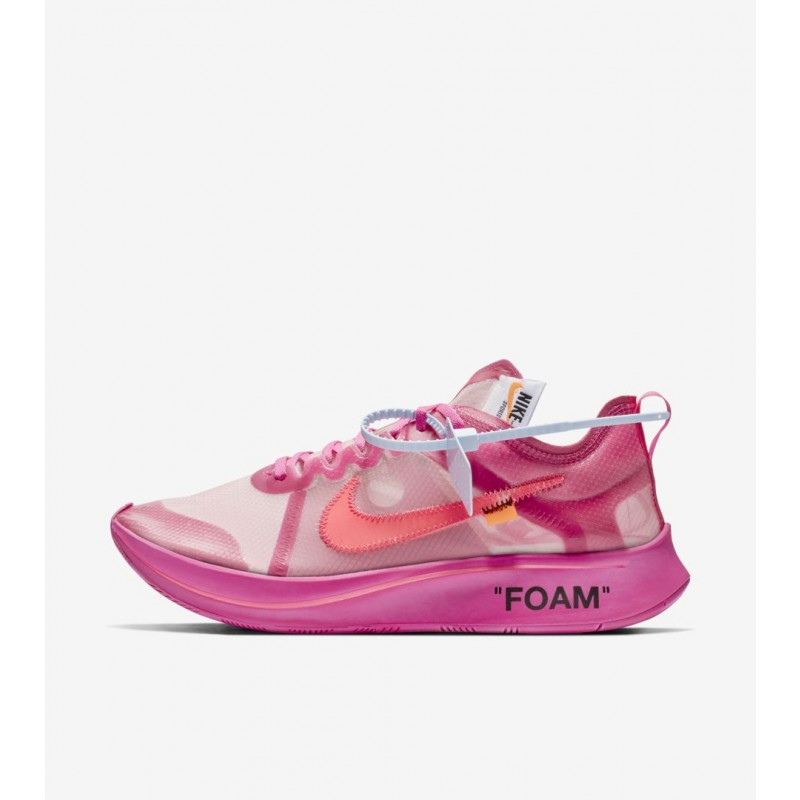 Nike Zoom Fly Off-White Rosas - AJ4588-600
