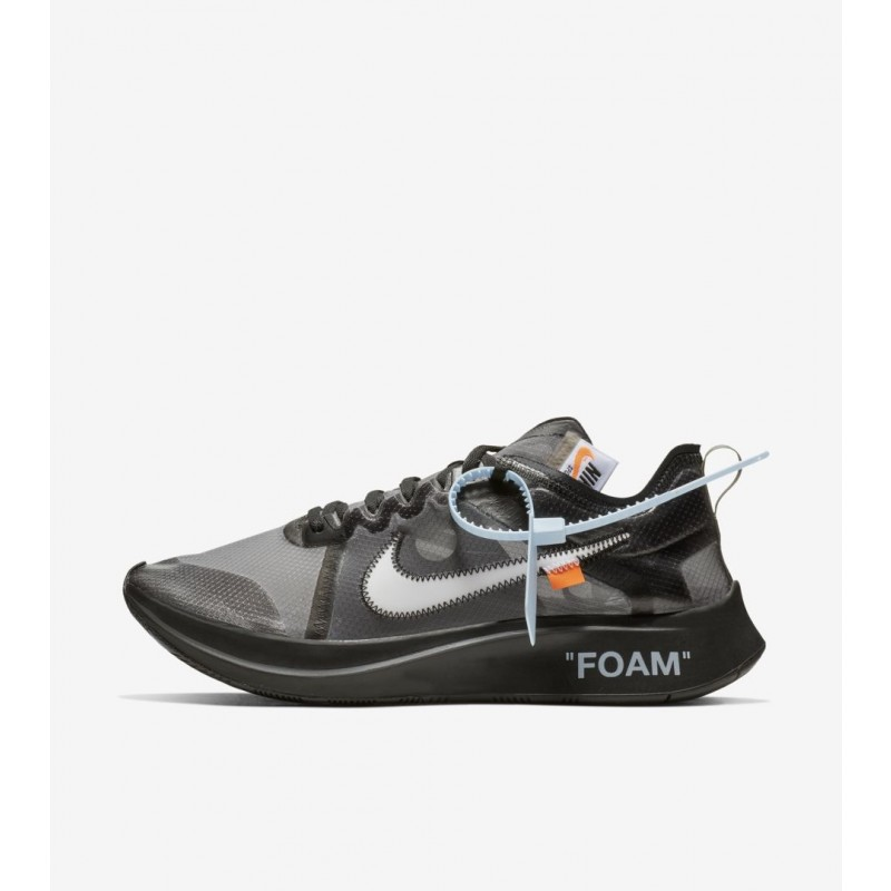 Nike Zoom Fly Off-White Negras Plata - AJ4588-001