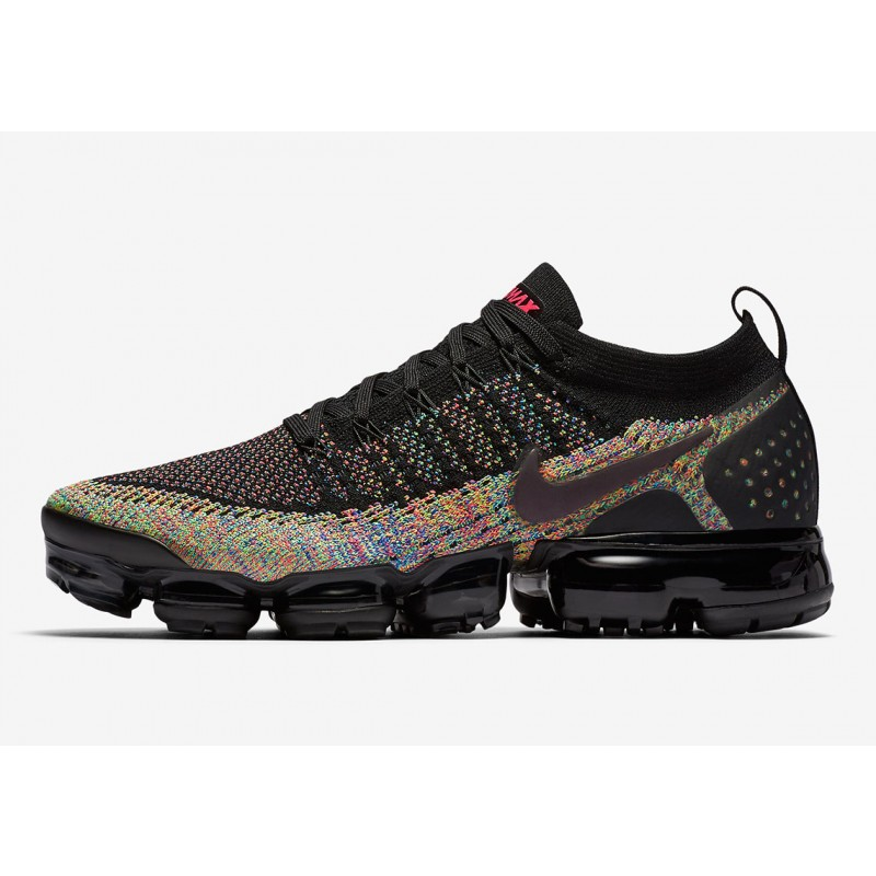 "Air VaporMax Flyknit 2 ""Negras Multi-Colores""- Nike - 942842 017"