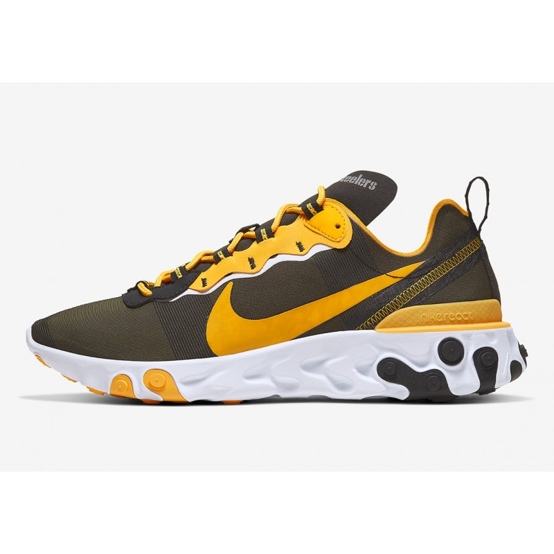 "NFL x Nike React Element 55 ""Pittsburgh Steelers"" CK4893-001"