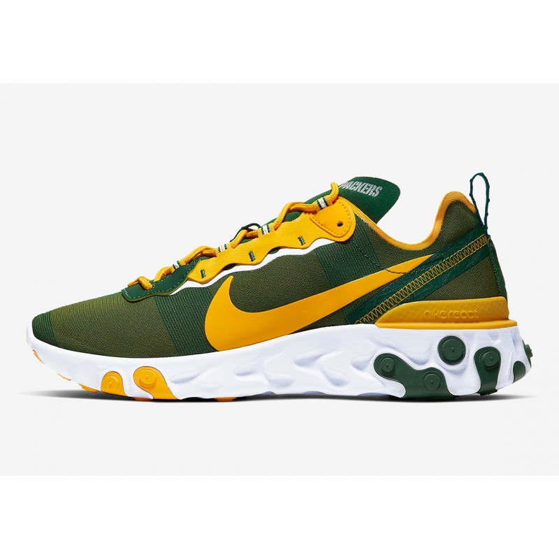 "NFL x Nike React Element 55 ""Verdes Bay Packers"" CK4882-300"